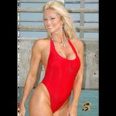 Starwear USA Orbit Halter Style One Piece Swimsuit - Crimson Red