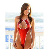 Starwear USA Shuttle Keyhole Front One Piece Swimsuit - Red Foil