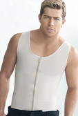Ann Chery Latex Men Girdle Vest Body Shaper with zipper  - Beige