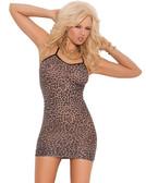 Elegant Moments Leopard Slip Mini Dress - One Size