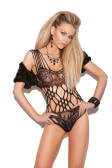 Elegant Moments Cut Out Lace Teddy