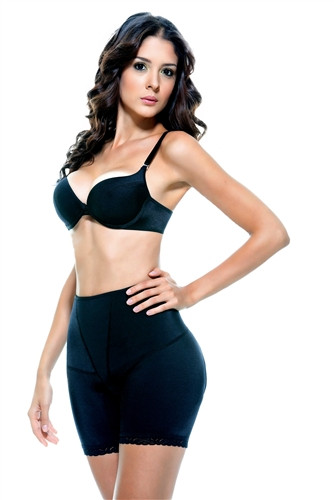 Vedette Elaine High Waist Panty Buttocks Enhancer - Black