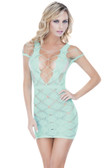 Oh La La Cheri Seamless Stocking Dress - Aqua