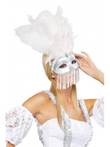 Roma Costume Beaded Masquerade Mask