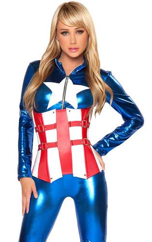 Roma Costume Sexy American Hero
