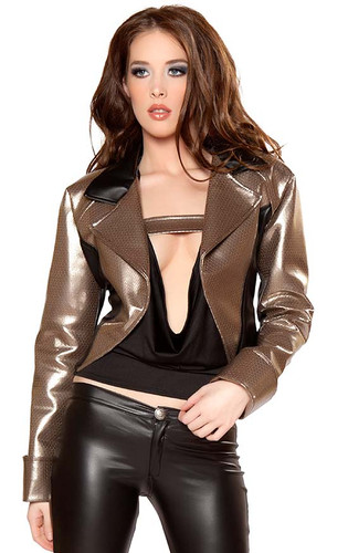 Roma Costume Two-Tone Jacket with Rolled Cuff