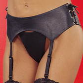 Allure Leather Lace Up Garterbelt