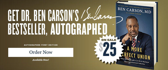 A More Perfect Union - Signed by Ben Carson MD