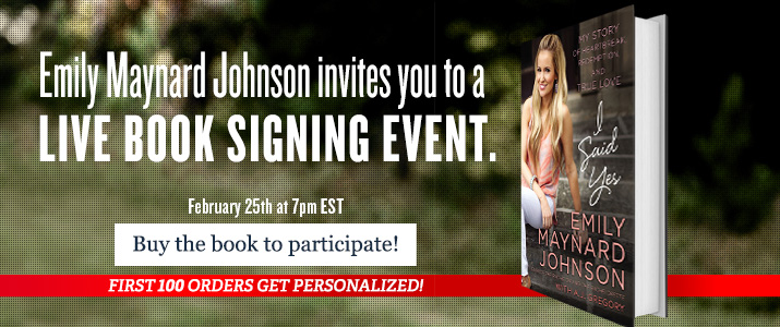 I Said YES - Join the live online booksigning on February 25th at 7pm EST
