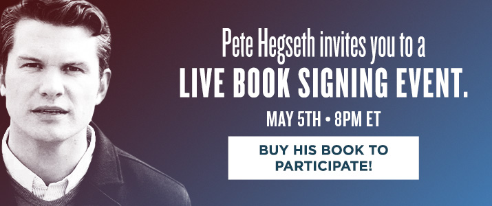 Pete Hegseth Live Signing
