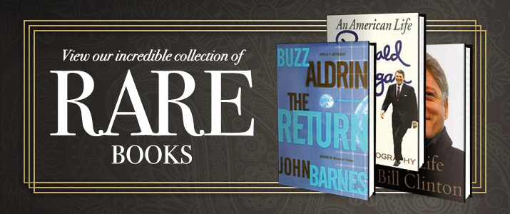 Hold a piece of history in your hand. Check out our collection of rare autographed books.