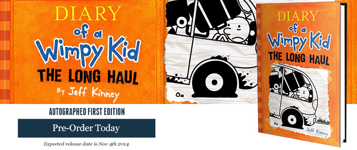 Diary of a Whimpy Kid: The Long Haul - Signed by Jeff Kinney
