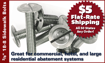 Stainless Steel Sidewalk Bolts for all Storm Panel Anchor