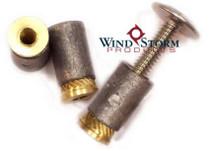 1/4-20 Lead/Brass Machine Screw Anchors—Convenience Pack [50 per PKG]