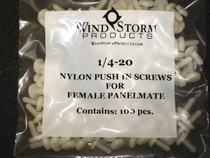 ELCO Nylon Push in Button Screws