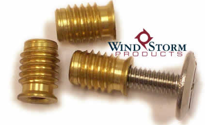 1/4-20 Brass Slotted Wood Bushing—Contractor Pack [100 per PKG]