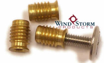 1/4-20 Brass Slotted Wood Bushing—Convenience Pack [50 per PKG]