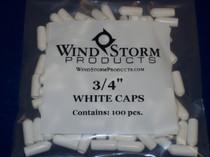 """3/4"""" white caps"""
