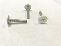 "1/4-20 x 1-1/2"" Windstorm White Painted Head Combo Sidewalk Bolts - Contractor Pack [100 per pack]"