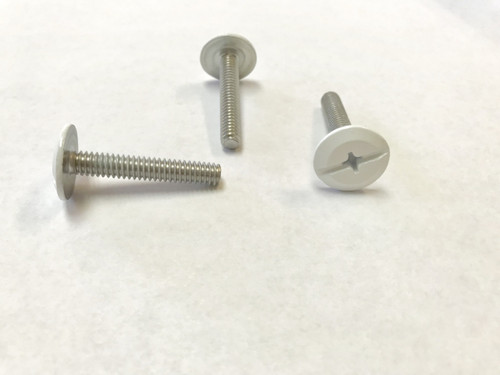 """1/4-20 x 1-1/2"""" Windstorm White Painted Head Combo Sidewalk Bolts - Contractor Pack [100 per pack]"""