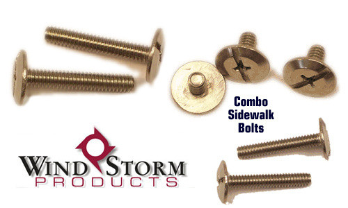 "1/4-20 x 4"" Combo Sidewalk Bolts - Sold Individually"