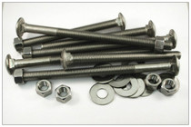"3/8-16 X 4"" - Carriage Bolt - 18-8 Stainless Steel"