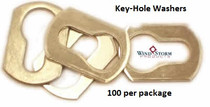 Aluminum Key-Hole Washers for Use with Combo Truss Sidewalk Bolts—100 Pack