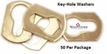 Aluminum Key-Hole Washers for Use with Combo Truss Sidewalk Bolts—50 Pack
