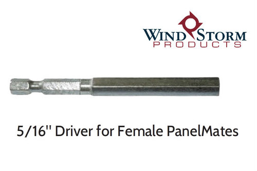 "5/16"" Hex Drive Tool Required for Female PanelMate Installation"