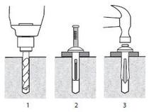 "1/4"" x 1-1/2"" Zamac Nailin® Mushroom Head  Anchors - 2820"