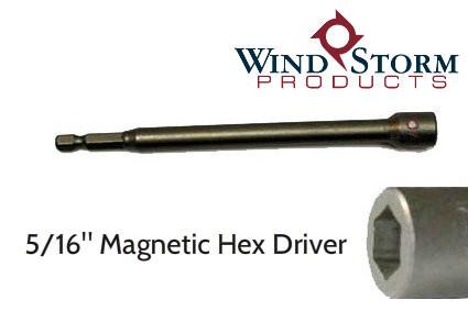 "5/16"" x 6"" Hex Magnetic Nutsetter for setting Tapcons"