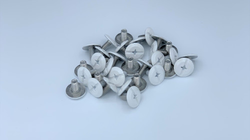 """1/4-20 x 1/2"""" Windstorm White Painted Head Combo Sidewalk Bolts - Contractor Pack [100 per pack]"""