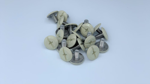 """1/4-20 x 1/2"""" Windstorm Beige Painted Head Combo Sidewalk Bolts - Contractor Pack [100 per pack]"""