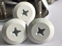 "1/4-20 x 1"" Windstorm White Painted Head Combo Sidewalk Bolts - Contractor Pack [100 per pack]"