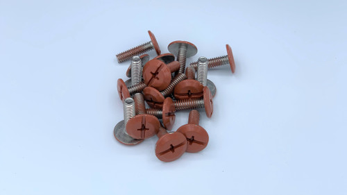 """1/4-20 x 1"""" Windstorm Brick Painted Head Combo Sidewalk Bolts - Contractor Pack [100 per pack]"""