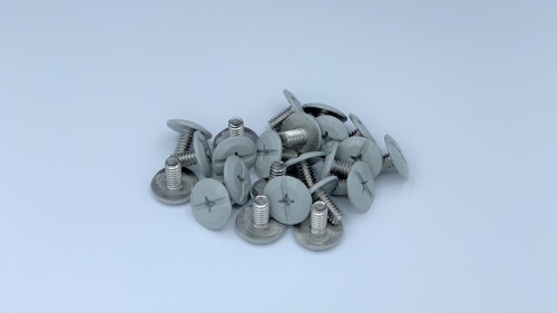 "1/4-20 x 1/2"" Windstorm Light Gray Painted Head Combo Sidewalk Bolts - Contractor Pack [100 per pack]"