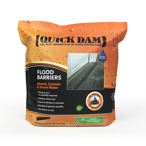 Quick dam 17' Water Activated Flood Barrier
