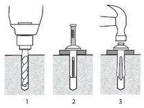 "1/4"" x 1-1/2"" Stainless Nailin® Mushroom Head  Anchors - 2870"