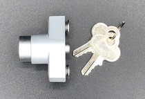 Mill Finish 1/4-20 Push Lock | With two keys and cap