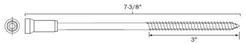"7-3/8"" Female PanelMate Pro TVAS in 18-8 Stainless Steel"