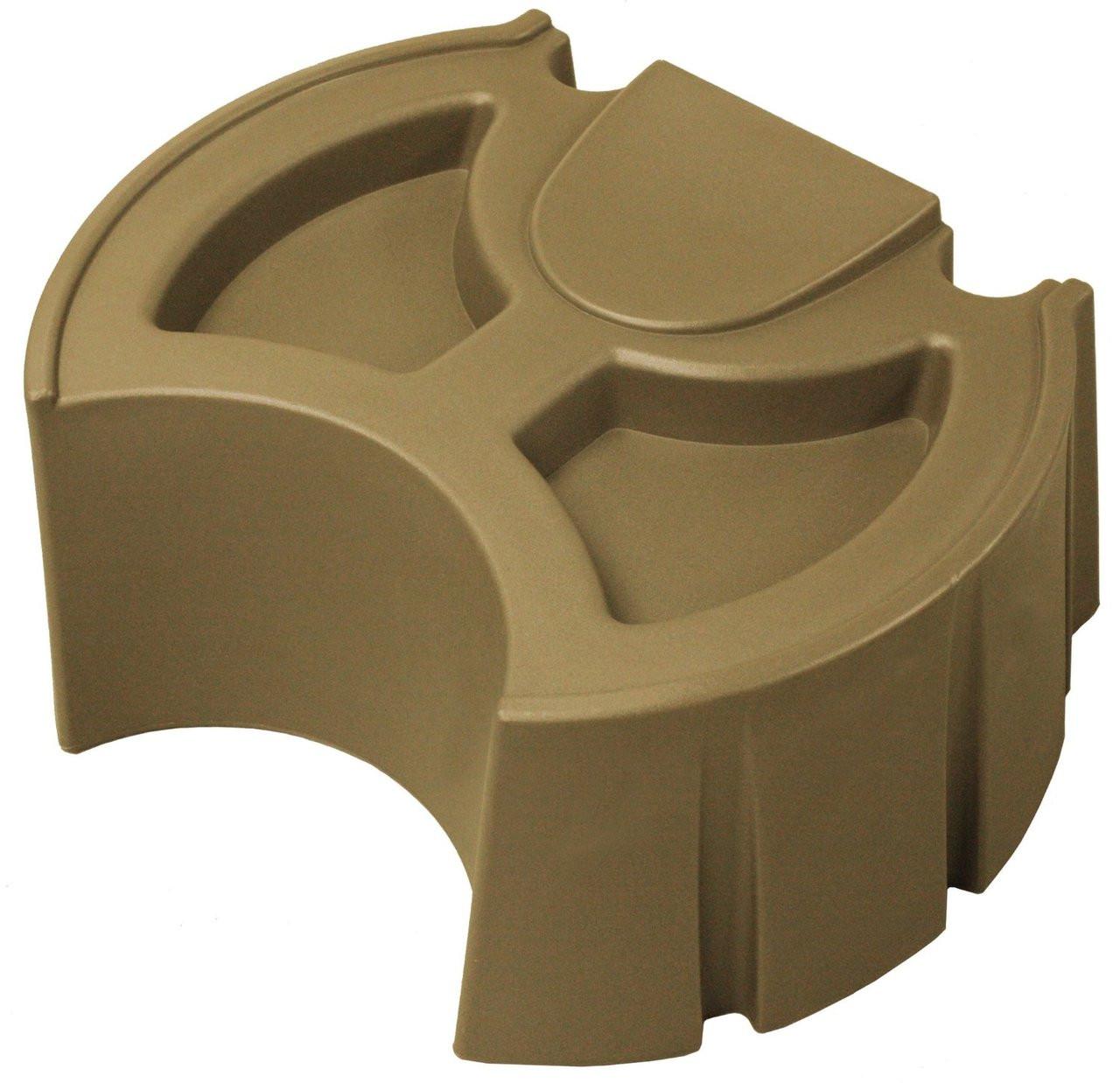 40 Gallon Flat Back - Rain Barrel - Good Ideas - KHAKI w/ Stand