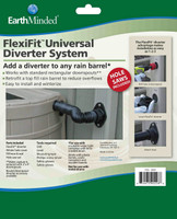 Rain barrel diverter , rain barrel diverter kit, earthminded rain barrels