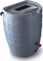 SpringSaver 50 Gallon Rain Barrel in Grey