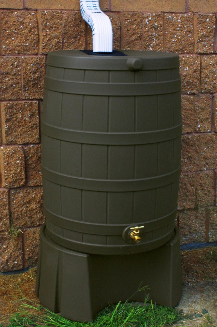 50 Gallon Flat Back Good Ideas Rain Barrel Oak Amp Stand