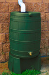 40 Gallon Flat Back - Good Ideas Rain Barrel - GREEN & Stand