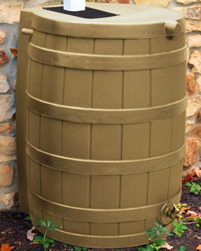 Kaki rain barrel, wooden rain barrel