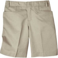 WV CHRISTIAN DICKIES GIRLS FLAT FRONT SHORT (4 - 6)