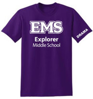 EXPLORER ADULT PURPLE DRAMA  T-SHIRT (S-3X)