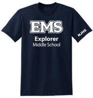 EXPLORER ADULT NAVY NJHS T SHIRTS (S-3X)