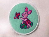Disney Pooh Piglet w Butterfly Sew On  Applique Patch